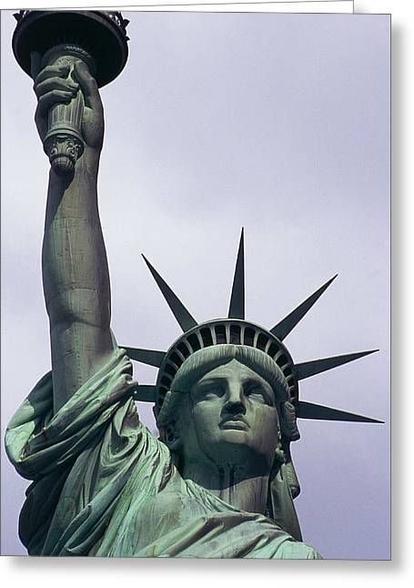 Statue Of Liberty Greeting Card by Auguste Bartholdi