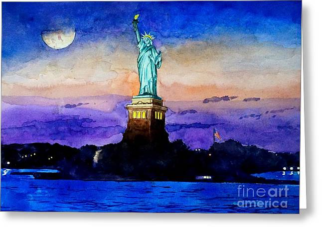 Statue Of Liberty New York Greeting Card