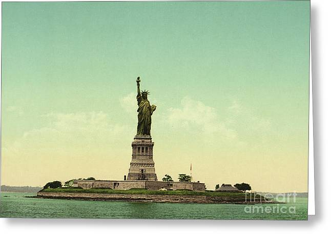 Statue Of Liberty, New York Harbor Greeting Card by Unknown