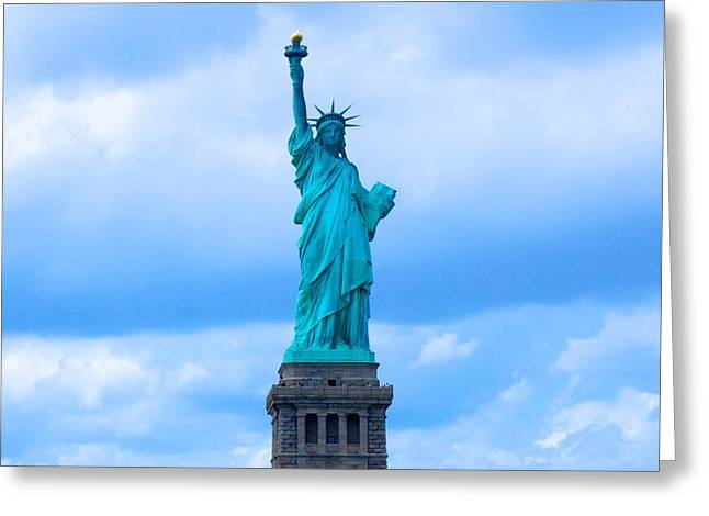 Statue Of Liberty Greeting Card by Art Spectrum