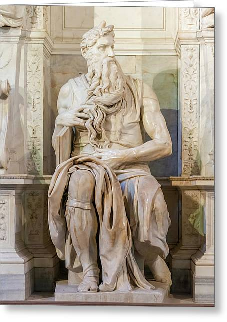 Statue Of Moses Greeting Card