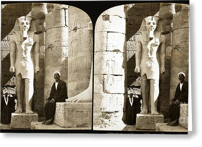 Statue Of Ramses II, Luxor Temple, 1908 Greeting Card by Science Source