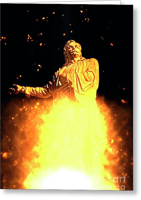 Statue Of Rigas Feraios Greeting Card