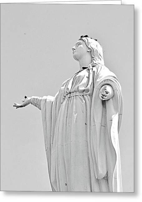 Statue Of The Virgin Mary No. 245-2 Greeting Card by Sandy Taylor