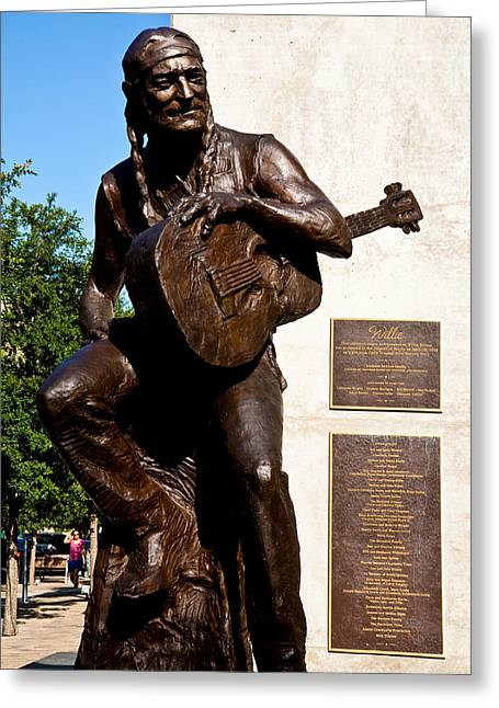 Willie Nelson Greeting Cards - Statue Of Willie Nelson Greeting Card by Mark Weaver