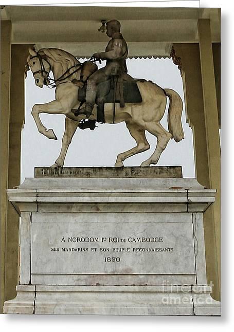 Statue Royal Palace  Greeting Card