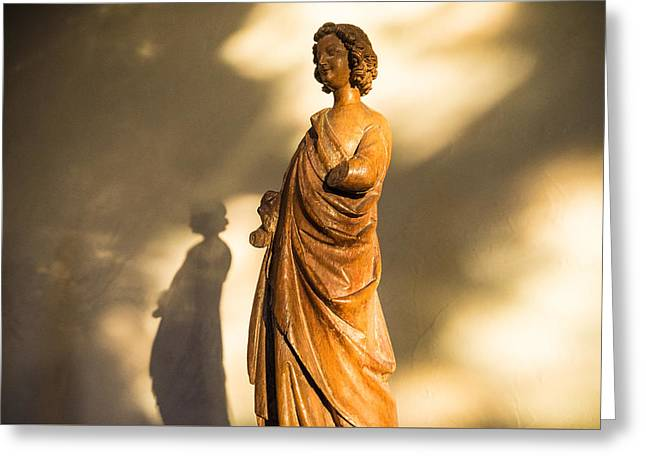 Statue Shadow Greeting Card