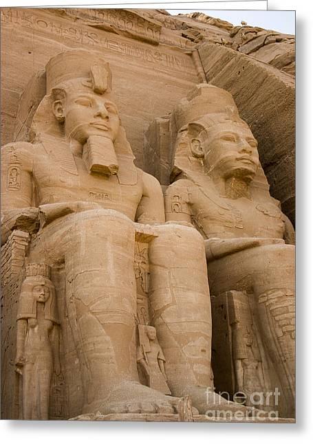 Statues At Abu Simbel Greeting Card by Darcy Michaelchuk