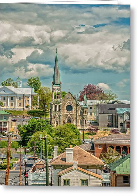 Staunton Cityscape Greeting Card by Jim Moore