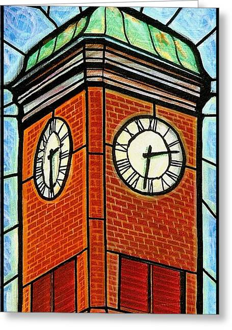Staunton Clock Tower Landmark Greeting Card by Jim Harris