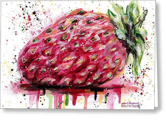 Stawberry 1 Greeting Card by Arleana Holtzmann