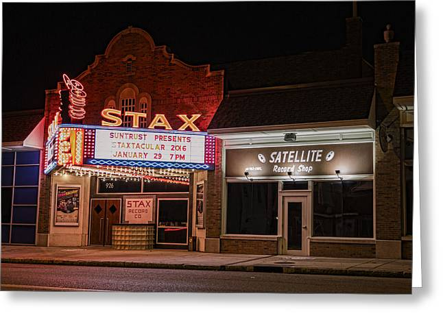 Stax Records - Memphis Greeting Card