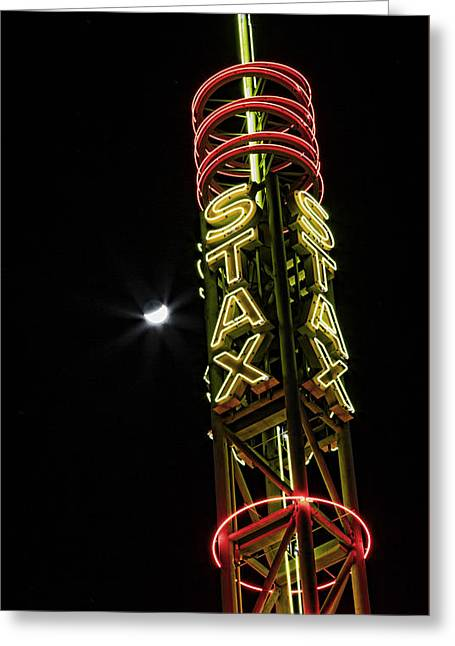 Stax Records Tower And Moon Greeting Card