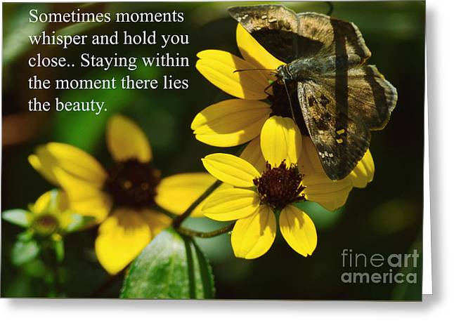Staying Within The Moment Greeting Card