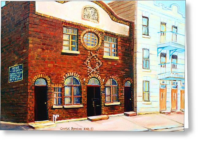 Lubavitcher Greeting Cards - St.dominique Street Synagogue Greeting Card by Carole Spandau