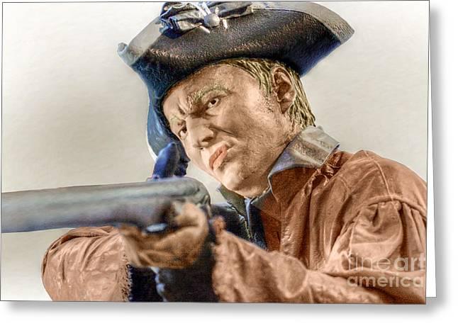 Steady Aim Milita Soldier Greeting Card by Randy Steele