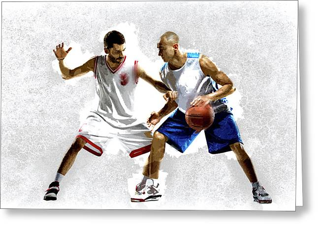 Steal The Basketball Greeting Card by Elaine Plesser