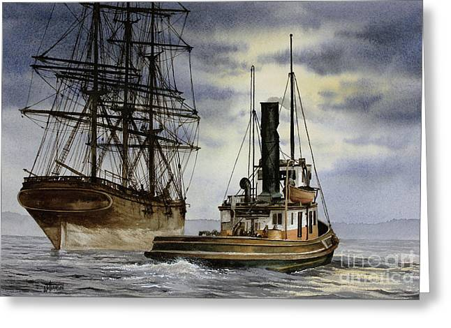Steam And Sail Heritage Greeting Card