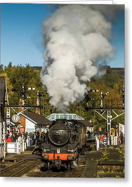 Steam At Grosmont Greeting Card