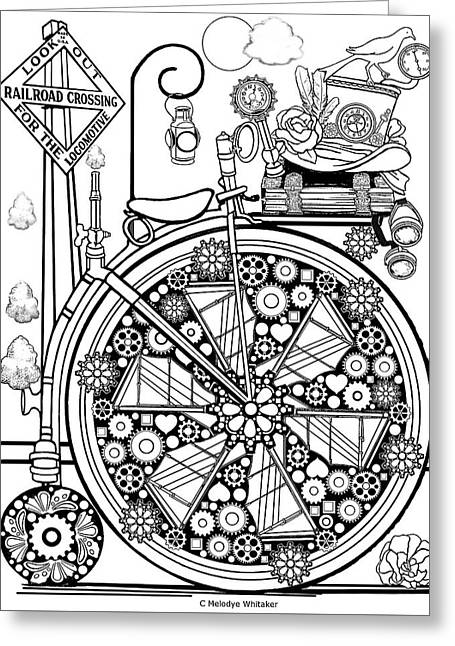Steam Cycle Greeting Card