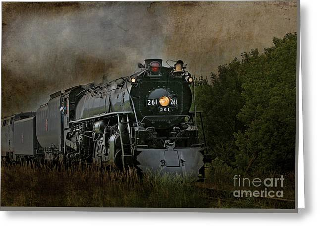 Steam Engine 261 Greeting Card