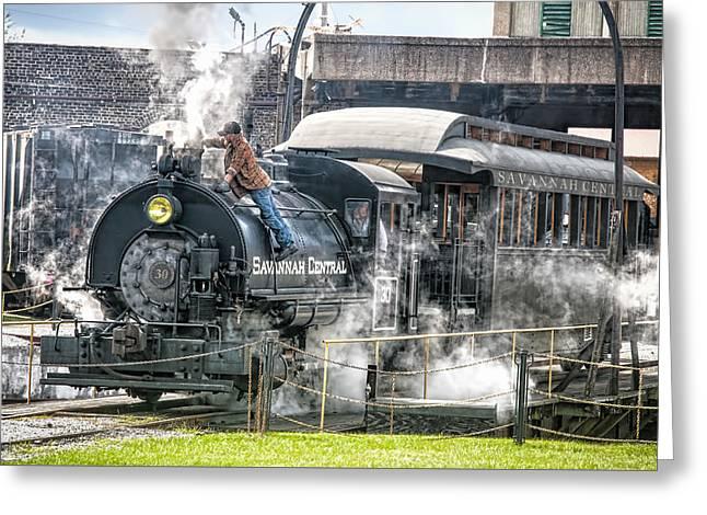 Steam Engine #30 Greeting Card