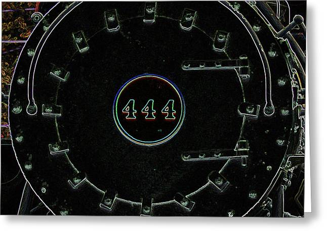 Steam Engine 444 Greeting Card by Kim Pate