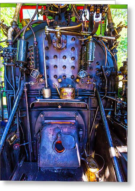 Steam Engine Cab Greeting Card by Garry Gay
