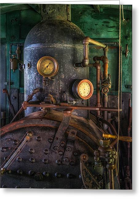 Steam Engine Greeting Card by Mark Papke