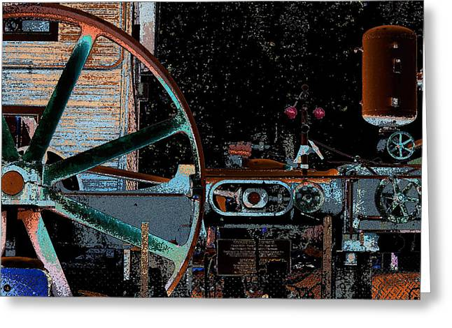 Steam Engine Greeting Card by Marnie Patchett