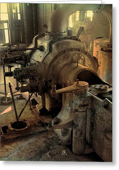Steam Engine No 4 Greeting Card
