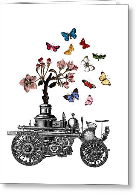 Steam Engine Of Life Greeting Card