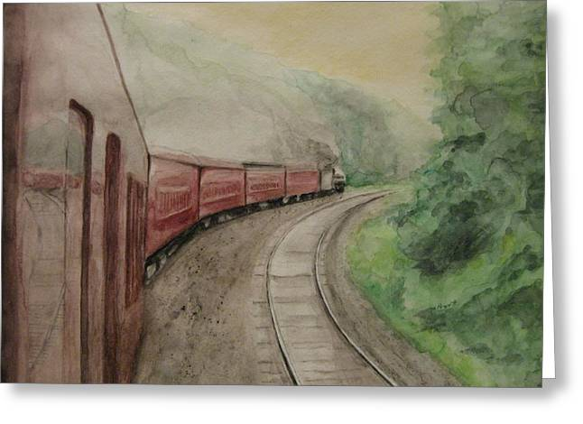 Steam Excursion Greeting Card by Diana Prout