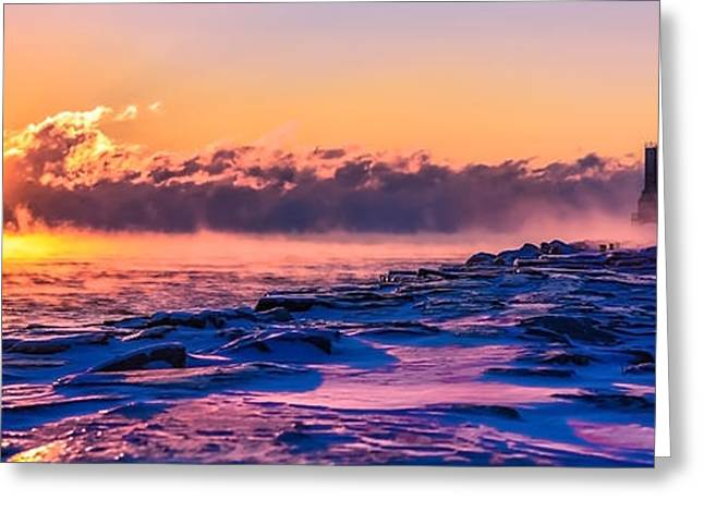 Steam Fog Two Panorama Greeting Card
