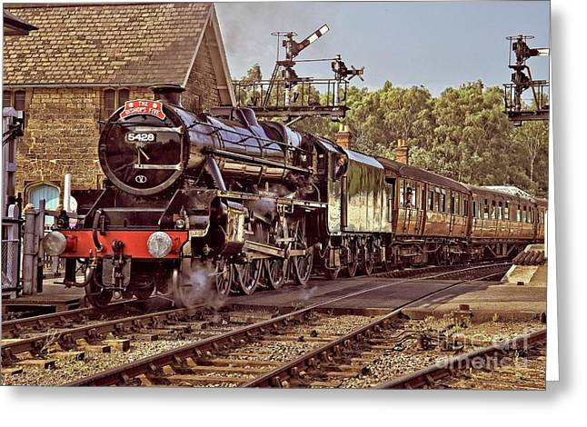 Steam Loco On Yorkshire Railway Greeting Card