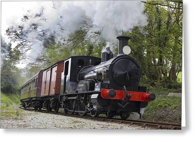 Steam Locomotive 3298 In Cornwall Greeting Card
