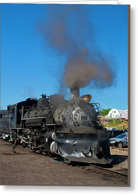 Steam Locomotive - Chama - New Mexico Greeting Card by Steven Ralser