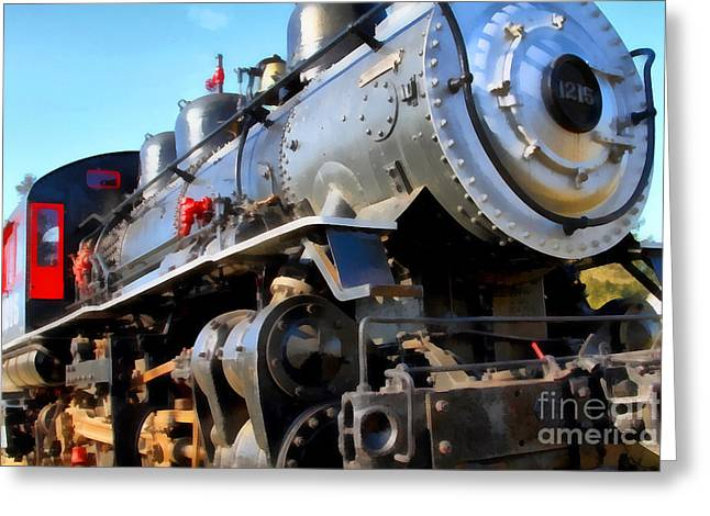 Steam Locomotive Engine 1215 . 7d12980 Greeting Card by Wingsdomain Art and Photography