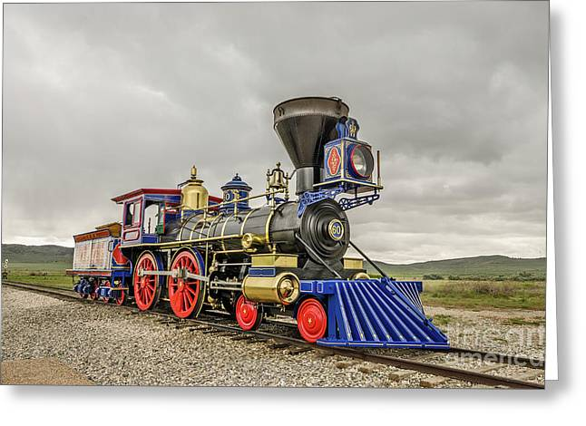 Greeting Card featuring the photograph Steam Locomotive Jupiter by Sue Smith