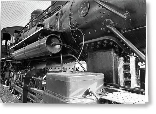 Steam Locomotive Side View Greeting Card