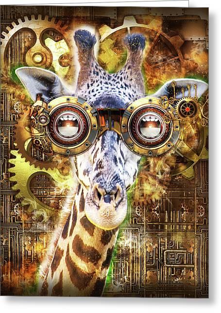 Steam Punk Giraffe Greeting Card