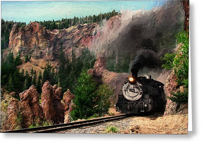 Greeting Card featuring the photograph Steam Through The Rock Formations by Ken Smith