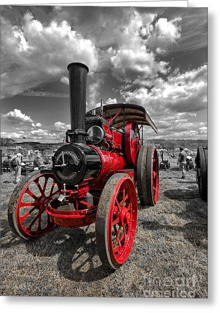 Steam Traction Engine Greeting Card by Nichola Denny