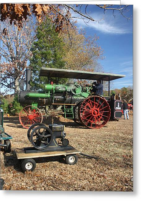 Steam Tractor Greeting Card by Kevin  Sherf