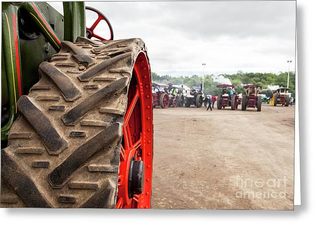 Steam Tractors Greeting Card