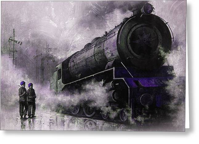 Steam Train Art 56u Greeting Card by Gull G
