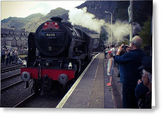 Steam Train, Ffestiniog, North Wales Greeting Card