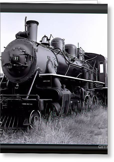 Steam Train Greeting Card by James  Dierker