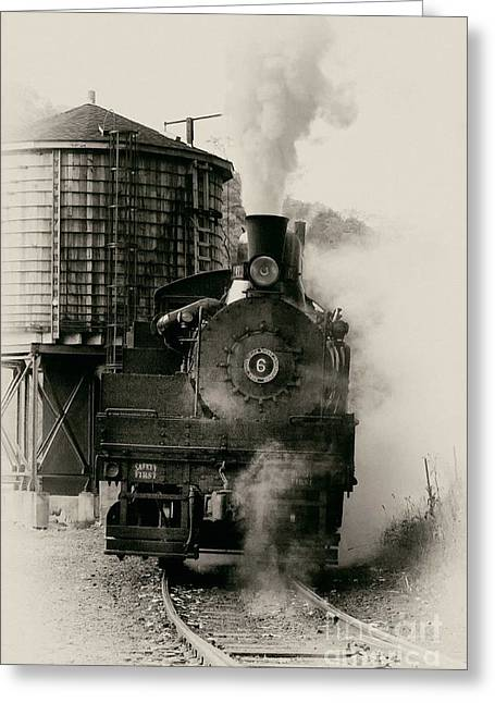 Steam Train Greeting Card by Jerry Fornarotto