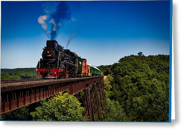 Steam Train Greeting Card by Mountain Dreams